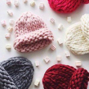 шапка из шерсти мериноса для младенца - из толстой шерсти 2
